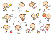 Kids And Sport Sticker