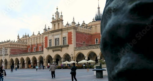 Historic quarter of Krakow, Poland - Main Market Square - Cloth Hall - Sukiennice