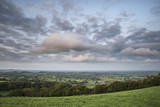 Beautiful dawn landscape over Somerset Levels in English countryside - 175808307