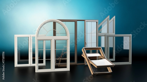 Windows colection - blue background - 175811116