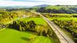 Quadro Aerial View Of Highway Bridge