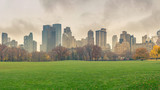 Central park at rainy day, New York City, USA - 175819735