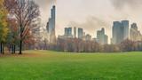 Central park at rainy day, New York City, USA - 175819776