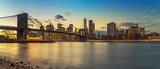 Brooklyn bridge and Manhattan after sunset, New York City - 175819995