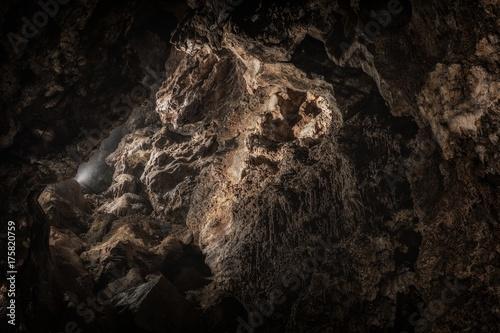 Underground cave texture closeup photo Poster