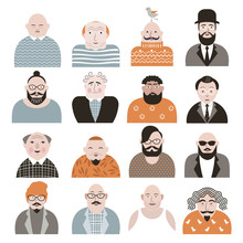 People Avatar Face Icons Sticker