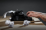 Vintage Typewriter concept series about writing and writer block. Inspiration is sometimes hard to find - 175825379