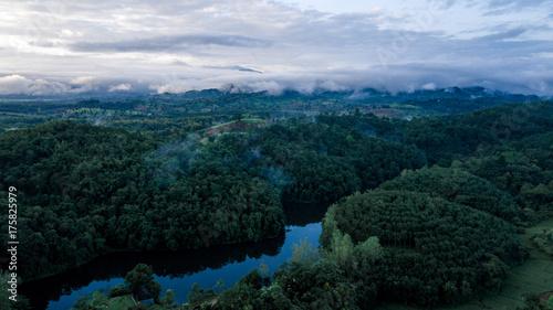 Fotobehang Zwart Above the Wild