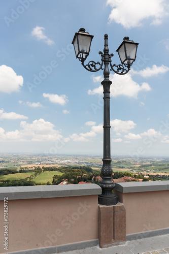 Deurstickers Florence urban street lamp in Italy