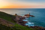Lighthouse of Saint Brelade, Jersey, Channel Islands, UK at sunrise - 175834157