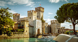 Rocca Scaligera castle in Sirmione town near Garda Lake in Italy - 175836193
