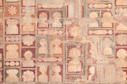 Foto Murales Detail At Akbar's Tomb Complex In Sikandra