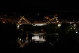 Ponte do Milenio bridge in Ourense at night