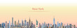 vector illustration of New York city skyline at sunrise - 175842391