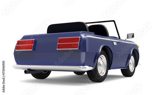 Fotobehang Auto car luxury cabriolet dark blue back