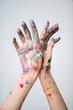 hands of painter