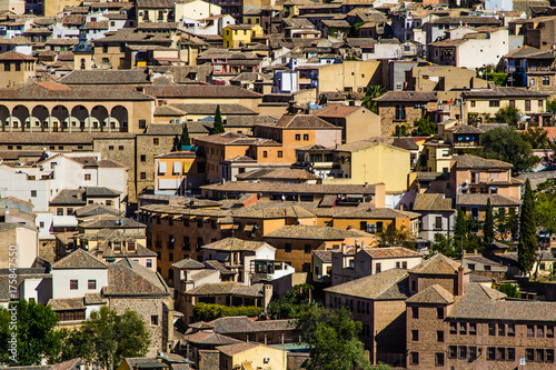 Sticker roofs of the city of Toledo, in the Spanish province of Castilla and Mancha