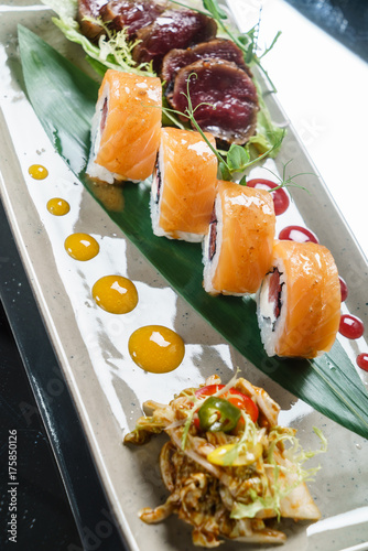 Foto op Canvas Sushi bar sushi set