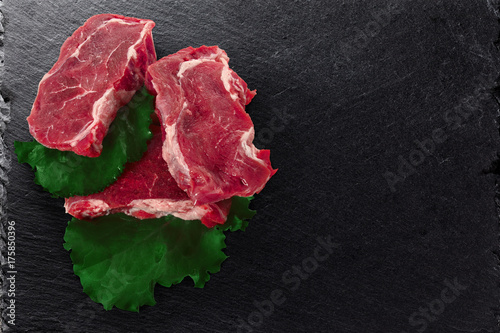 Poster Steakhouse Cuts of beef meat steacks