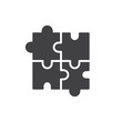 Puzzle icon vector, filled flat sign, solid pictogram isolated on white. Plugins symbol, logo illustration. - 175853318
