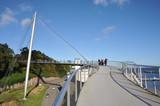Hängebrücke, Sassnitz, Insel Rügen, Brücke, Hafen, Zentrum, Architektur, Mast, Stahlseile, Steg, Viadukt, Fußweg, Schwebebrücke,  Mecklenburg-Vorpommern - 175854152