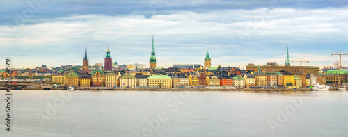 Foto op Aluminium Stockholm Panorama of the Old Town (Gamla Stan) in Stockholm, Sweden