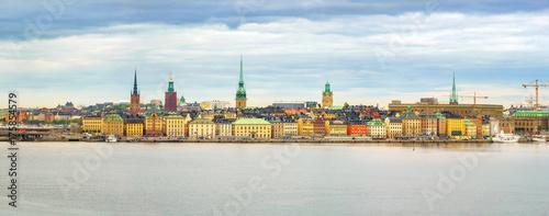 Fotobehang Stockholm Panorama of the Old Town (Gamla Stan) in Stockholm, Sweden