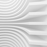 Abstract Architecture Background. 3d Illustration of White Circular Building