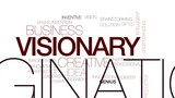 Visionary animated word cloud, text design animation. Kinetic typography. - 175857744