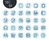 Collection of premium quality office workflow line icons. Outline concepts for web and app design and development. Modern vector illustration of thin line web symbols. - 175859379
