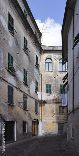 Fotobehang Liguria detail of building