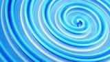 Shiny blue spiral shape spinning. Computer generated seamless loop abstract 3D animation 4k UHD (3840x2160)