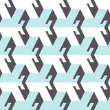 Abstract seamless pattern in isometric style. Three-dimensional elements. - 175870329