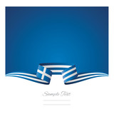 Abstract background Greece flag ribbon - 175872397