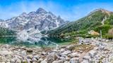 Morskie oko, góra, jezioro. Panorama - 175875737
