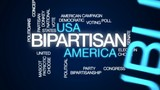 Bipartisan animated word cloud, text design animation. - 175876950