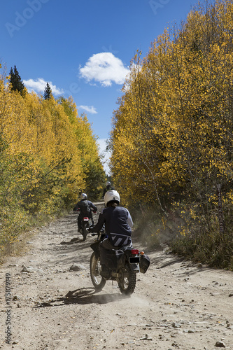 Papiers peints Gris traffic Off road motorcycling on the Rollins Pass Road, Rollinsviile, Colorado