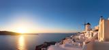 Glorious sunset in Oia village on Santorini island, Greece - 175881965