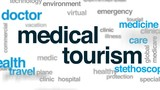 Medical tourism animated word cloud, text design animation. - 175883304
