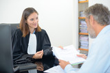Man in meeting with female lawyer - 175883376