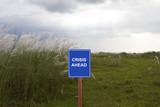 Crisis ahead signage concept - 175885743