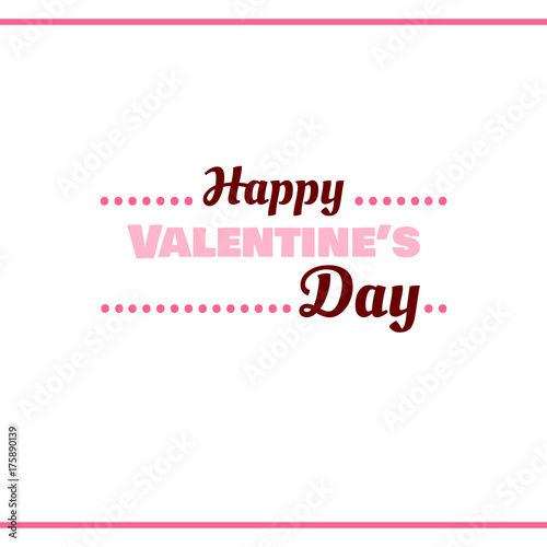 Happy Valentines Day Pink Label