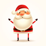 Santa Claus. Vector illustration of Santa Claus on white background. Isolated. - 175892160