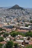 Ville d'Athènes et de la colline du Lykavittos vue depuis l'Acropole d'Athènes - 175893708