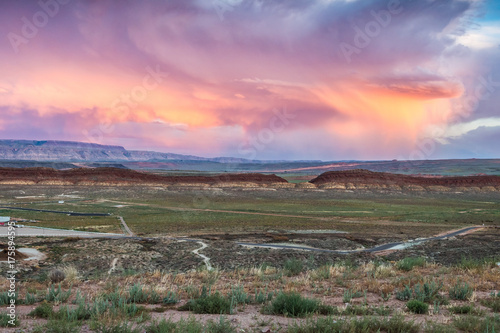 In de dag Chocoladebruin amazing utah landscape sundown
