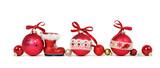 selbstgemachte Weihnachtskugeln, isoliert - 175897597