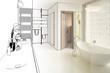 Elegantes Badezimmer (Zeichnung)