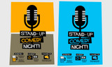 Stand Up Comedy Night! (Flat Style Vector Illustration Performance Show Poster Design) with Where, When And Ticket Details - 175898180