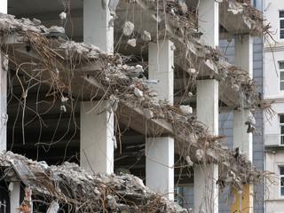 Abriss Hochhaus - Abbrucharbeiten - Stadtentwicklung
