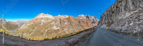 Blick auf I'Iseran und die Alpen